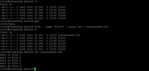 Linux Concatenate Files 3
