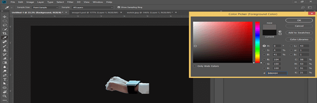 Photoshop hologram effect output 11