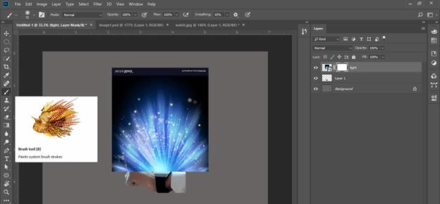 Photoshop hologram effect output 16