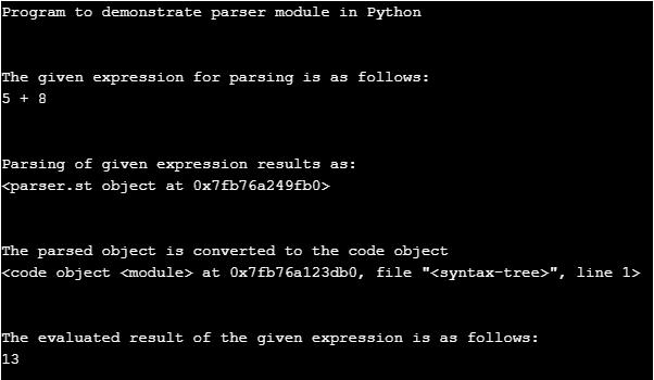 Python Parser-1.1