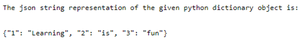 Python json.dumps-1.1