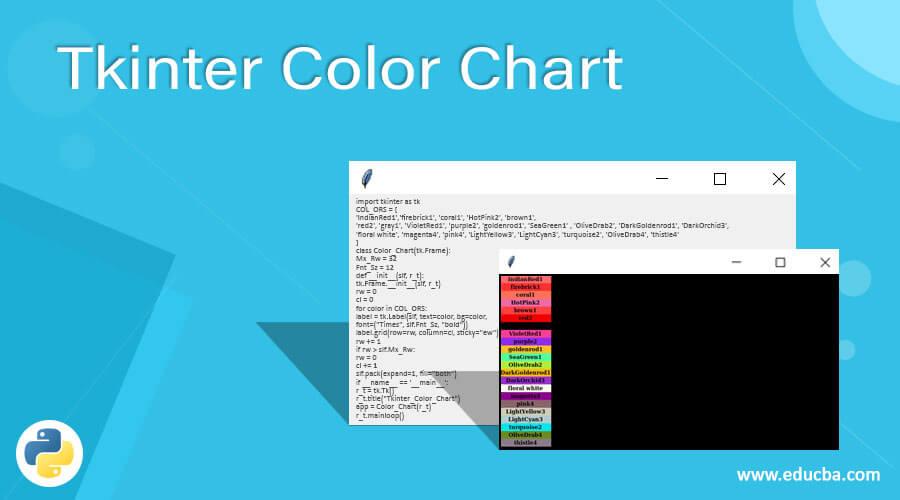Tkinter Color Chart