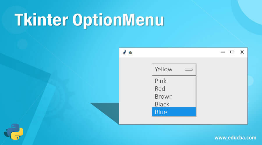 Tkinter OptionMenu