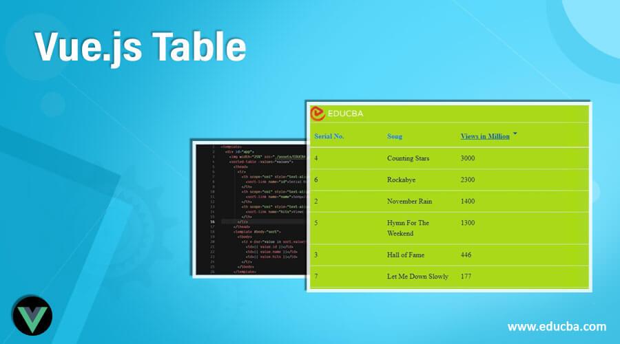 Vue.js Table