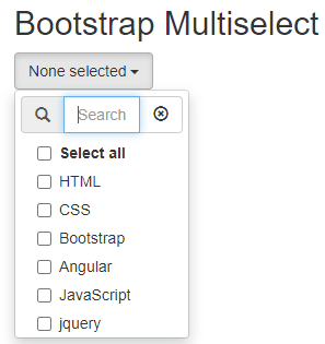 bootstrap multiselect example 2-1