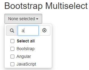 bootstrap multiselect example 2-2