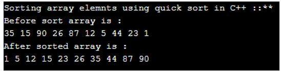 c++ QuickSort