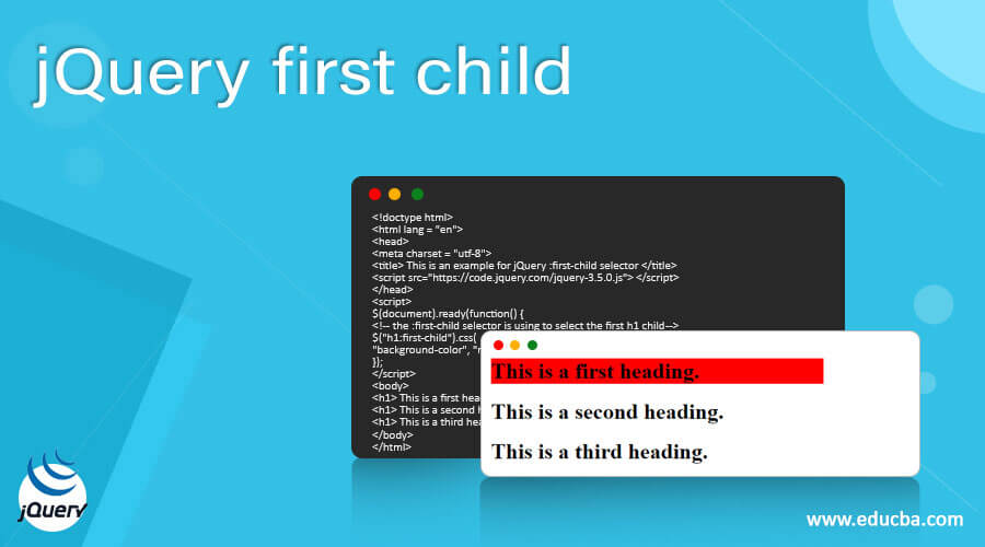 jQuery first child