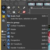 GIMP resize image output 10