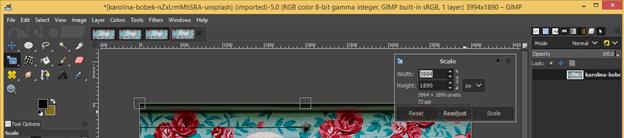 GIMP resize image output 12