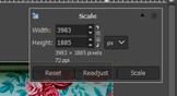 GIMP resize image output 14