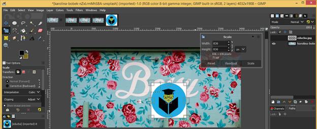 GIMP resize image output 19