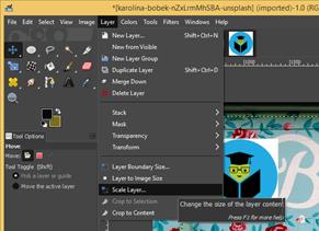 GIMP resize image output 20