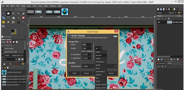 GIMP resize image output 21