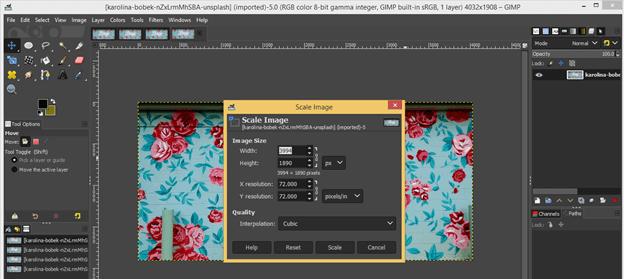 GIMP resize image output 3