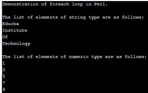 Perl foreach 1