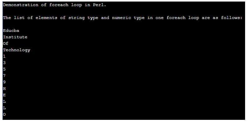 Perl foreach 2