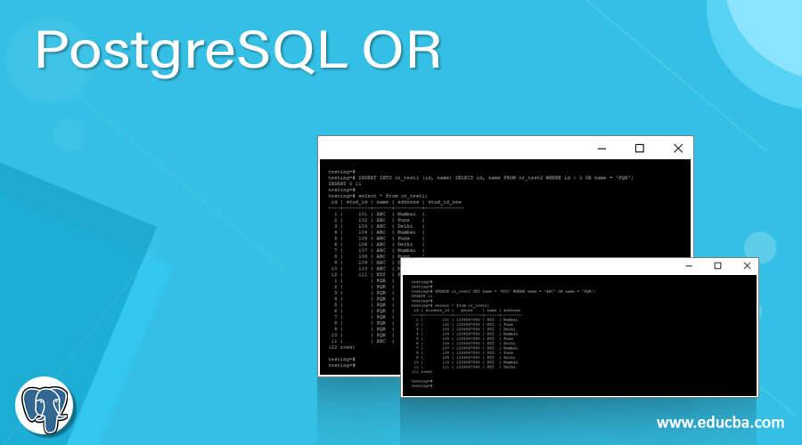PostgreSQL OR