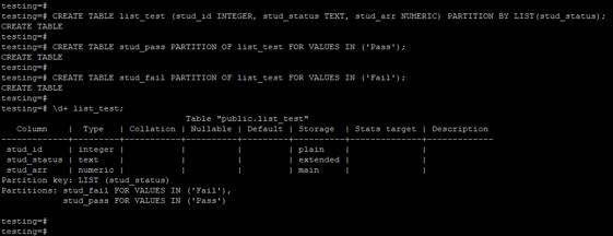 PostgreSQLPartition 1