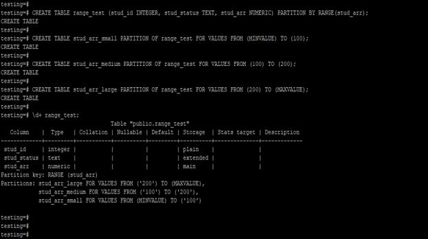 PostgreSQLPartition 2