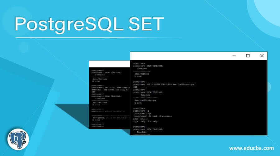 PostgreSQL SET