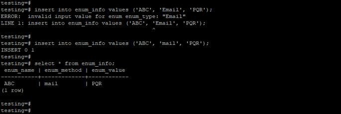 PostgreSQL enum 2