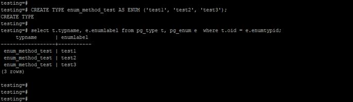 PostgreSQL enum 3