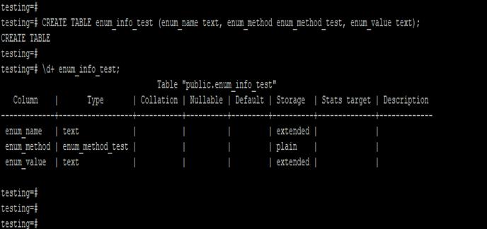 PostgreSQL enum 4