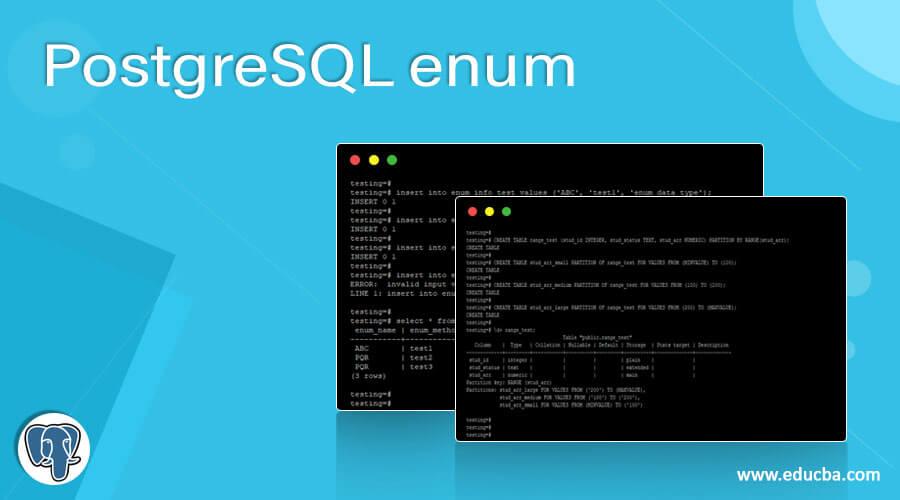 PostgreSQL enum