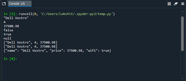 Python Object to JSON 1