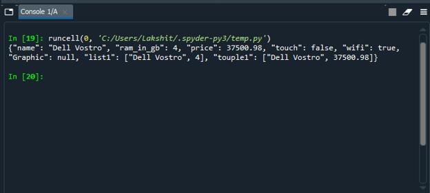 Python Object to JSON 2