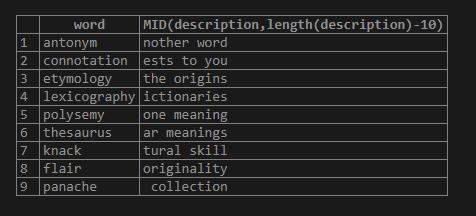 SQL MID 3