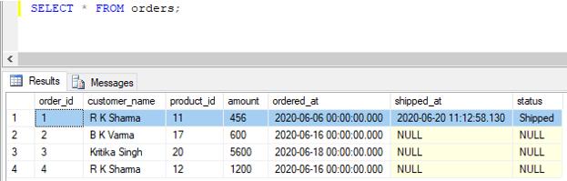 SQL UPDATE Trigger 7