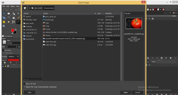 GIMP Floating Selection 2