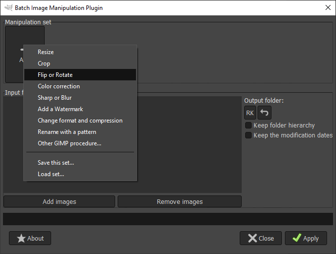 GIMP batch processing output 12
