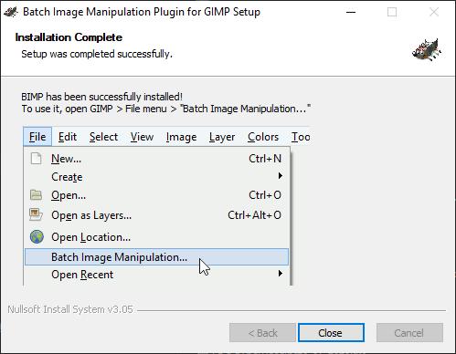 GIMP batch processing output 2