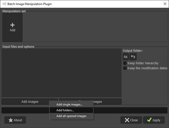 GIMP batch processing output 4