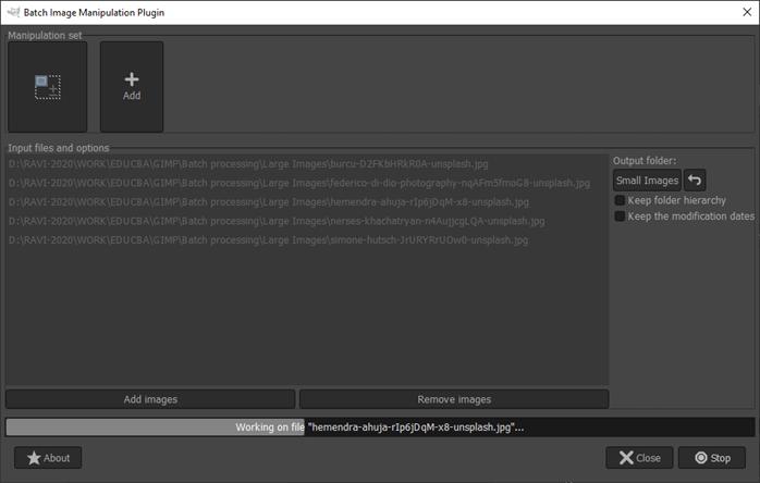 GIMP batch processing output 9