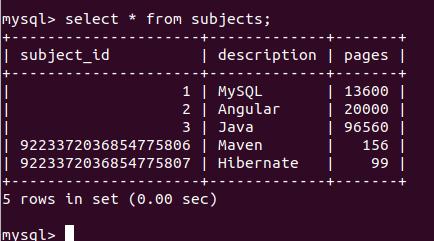MySQL BigInt 7