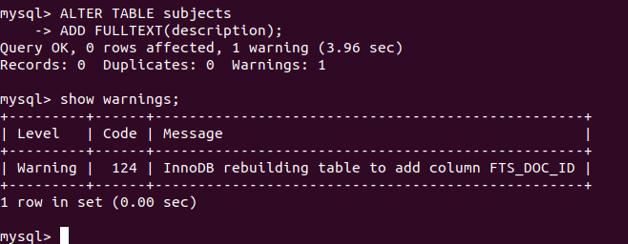 MySQL FULLTEXT - 2