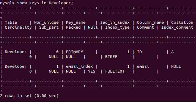 Developer table