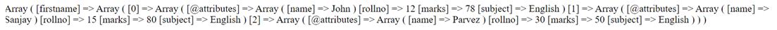 PHP XML into Array-1.1