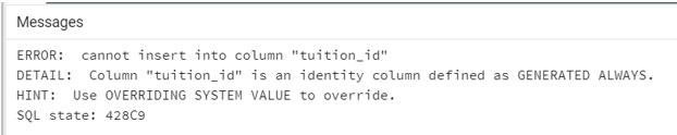 PostgreSQL Identity Column 2