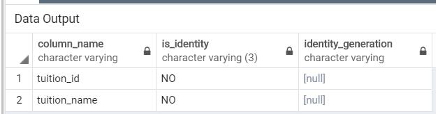PostgreSQL Identity Column 5