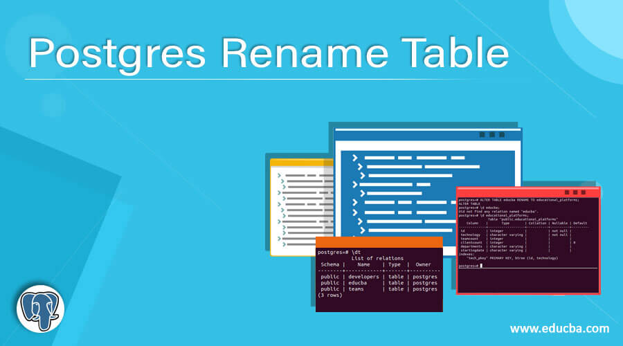 Postgres Rename Table | Complete Guide to Postgres Rename