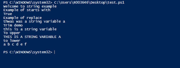 PowerShell SubString 2