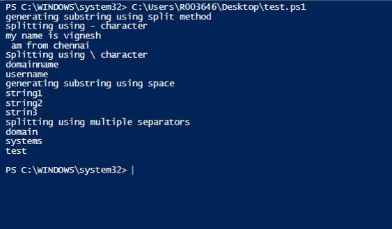 PowerShell SubString 6