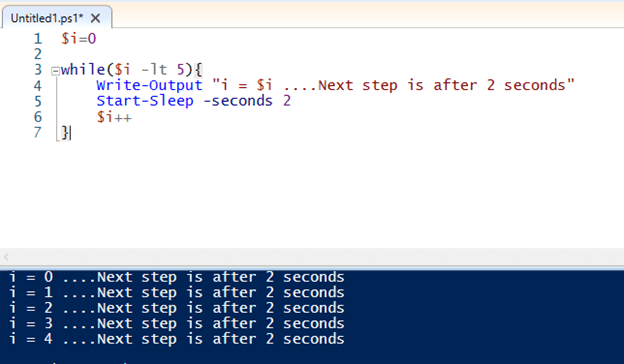 PowerShell pause output 3