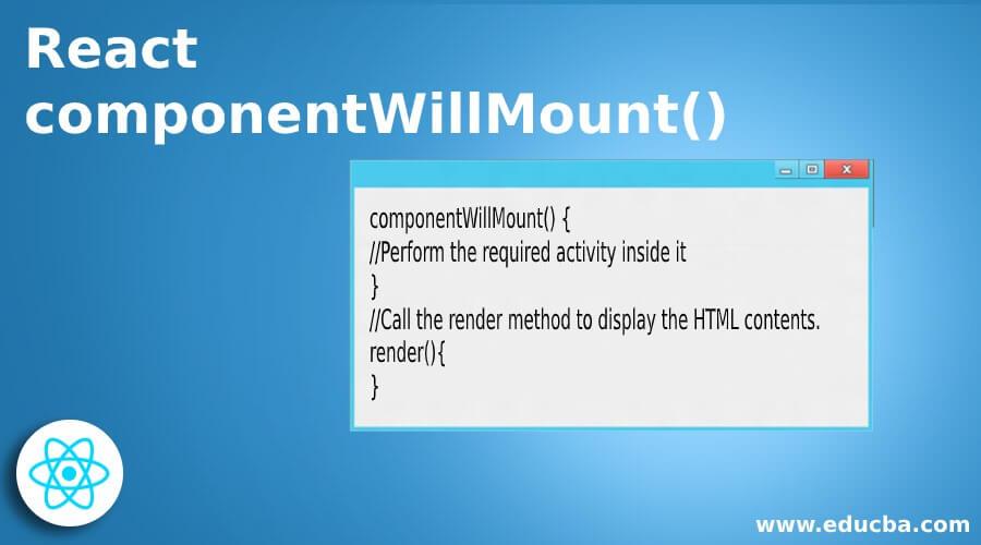 React componentWillMount()