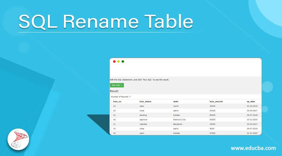 SQL Rename Table